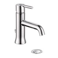 Delta Faucet Trinsic Single Hole Bathroom Faucet Single Handle Bathroom Faucet Chrome Bathroom Sink Faucet Metal Drain Assembly Chrome 559LF MPU
