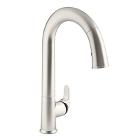 KOHLER K-72218-B7-VS Sensate Touchless Kitchen Faucet, Vibrant Stainless