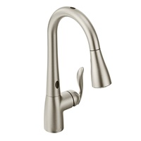 Moen 7594ESRS Arbor Motionsense Two-Sensor Touchless One Handle Pulldown Kitchen Faucet Featuring Power Clean, 1 count, Spot Resist Stainless