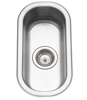 Houzer CS-1105-1 Club Series Undermount Stainless Steel Compact Bar Prep Sink