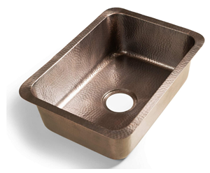 Monarch Abode 17098 Pure Copper Hand Hammered Milan Single Bowl Kitchen Sink