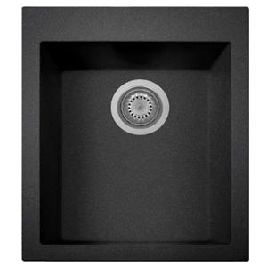 ZUHNE Black Kitchen, RV or Wet Bar Sink, Granite Composite