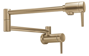 Delta Faucet Contemporary Wall-Mount Pot Filler Faucet