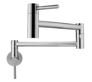 Geyser GF46-S Andorra Series Stainless Steel Wall Mount Two Handle Pot Filler Faucet
