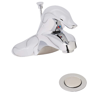 MOEN L4621 Chateau One Handle Low-Arc Bathroom Faucet with Drain Assembly, 0.5, Chrome