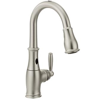 Moen 7185ESRS Brantford Motionsense Two-Sensor Touchless One Handle High Arc Pulldown Kitchen Faucet
