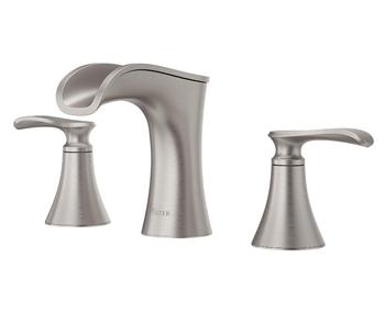 Pfister LF-049-JDGS Jaida Waterfall Widespread Bathroom Sink Faucet, Spot Defense Brushed Nickel