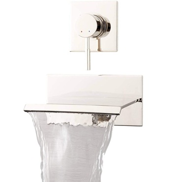 Signature Hardware 924617 Lavelle 6-1 2in Waterfall Wall Mounted Tub Filler with Metal Lever Handle