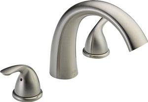 Delta Faucet Classic 2-Handle Widespread Roman Tub Faucet Trim Kit, Deck-Mount, Stainless T2705-SS