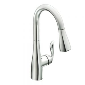 Moen 7594C Arbor One-Handle Pulldown Kitchen Faucet Featuring Power Boost and Reflex, Chrome