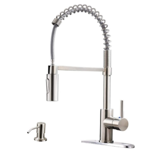 APPASO Commercial Kitchen Faucet Pull Down Sprayer with Soap Dispenser