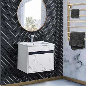 Fine Fixtures - Wall Mount Bathroom Vanity And Sink, Knob Free Design - Alpine Collection