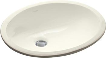 KOHLER K-2209-96 Caxton Undercounter Bathroom Sink, Biscuit
