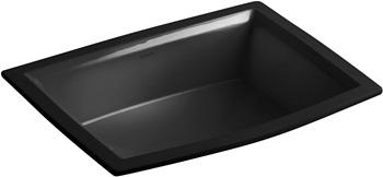 KOHLER K-2355-7 Archer Undercounter Bathroom Sink, Black Black