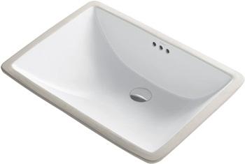 Kraus KCU-251 Elavo Bathroom Undermount Sink, 23 Inch, White