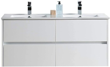 Blossom 48 Inches Double Bathroom Vanity with Ceramic Sink, 016 48 01D C
