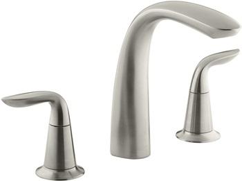 KOHLER K-T5323-4-BN Refinia Bath Faucet Trim, Valve Not Included, Vibrant Brushed Nickel